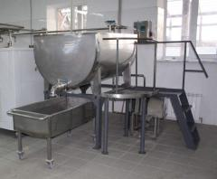 Curd vat 200-2000l. Curd vats with heating from