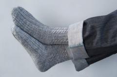 Вязаные носки из овечьей шерсти ручной роботы