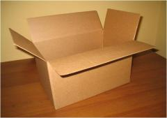 Boxes from a corrugated cardboard ready