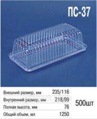 Packaging plastic ALPHA PAK PS-37 transparen
