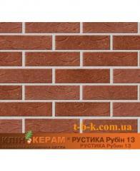 Кирпич облицовочный Керамейя КлинКЕРАМ Рустика Рубин-13 М350