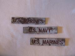 Stripe: U.S. MARINES & U.S. NAVY