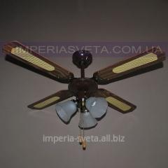 Люстра-вентилятор потолочный SVET трехламповый