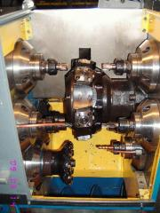 The machine for complex processing of a slanting