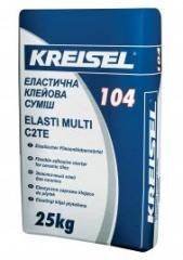 Elastic all-purpose adhesive for KREISEL 104 tile