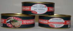 "Canned meat, canned meat: stewed Pork, pate, pork liver, barley porridge with pork ""Eat-Me"" in a tin from the manufacturer LLC ""Meat ""Buchach"""