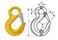 Крюк с проушиной и защелкой типа G80