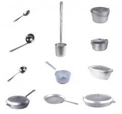 Aluminum cast ware.