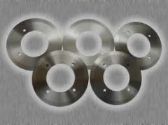 Production of knives disk