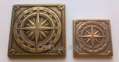 Compass of 5х5 cm and 7,5х7,5 cm an insert brass