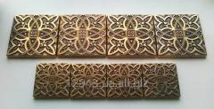 Brass insert Lilia of 5х5 cm and 7,5х7,5 cm for a