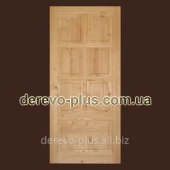 Двери из массива дерева 90см (глухие) f_1190