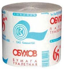 Туалетная бумага б/г Обухов 48шт*65м серая