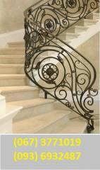 Handrail for skhod_v, metalev_ descend