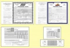 Forms of documents of the strict reporting