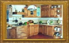 Комплект мебели для кухни (кухни деревянные в