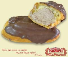 Трубочка заварна Шоколадна, пирожные опт от производителя, кондитерское предприятие КАЛАЧИ