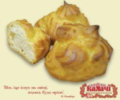 Шу з кремом Іриска, пирожные опт от производителя, кондитерское предприятие КАЛАЧИ