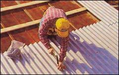 Sheets roofing wavy asbestos-cement (slate)