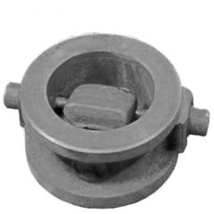 Backpressure pig-iron valves