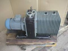 Pumps are vacuum rotor and bladed, deliveries