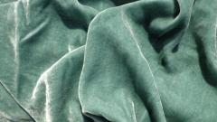 Silk velvet for curtains and an interior of