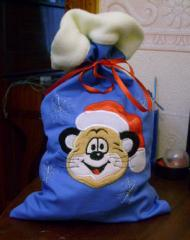 Sack for children's gifts on New Year's