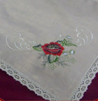 Napkin flax, the embroidered napkins