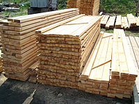 The edged sawn timbers calibrated