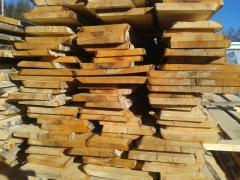 Unedged board (scaffold) pine