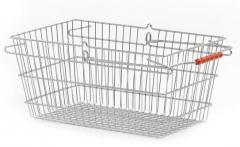 Metal consumer baskets of Wanzl the HW series with