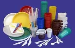 Disposable tableware in assortmen
