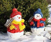 Снеговик с табличкой 43см Dema