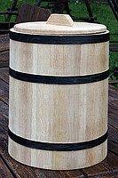 Кадка дубовая для соления 40л обручи из нержавейки