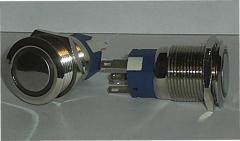 Кнопка металическая з підсвічуванням 19мм.