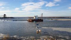Dredging, alluvium of beaches, extraction of sand