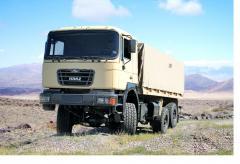 KRAZ B12.2MEX onboard army car