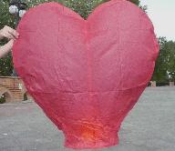 Небесный фонарик Сердце (красный, белый) Сувениры