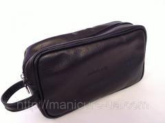 Cosmetics bag man's leather Aesthetics guide
