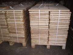 Preparation parquet of an oak