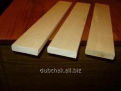 Plank beds in a sauna (an alder, a linden)
