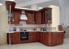 Кухни премиум класса с фасадами из дерева София,