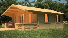 Lodge wooden with Komisare's verandah