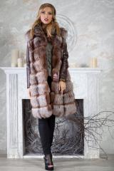 Fur coat fur jacket vest of fox Kiev Dnepr Odessa