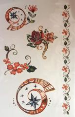 Tattoo (sticker) on Globus group DBTR-039 body