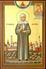 Saint Matrona of Moscow — a unique hand-written