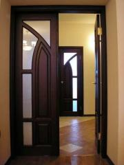 Doors from the massif of a maple Kiev