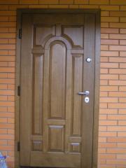 Doors entrance of an oak Kiev