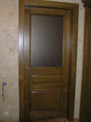 Doors in a bathroom wooden