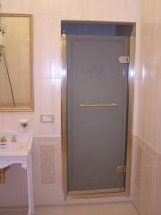 Doors in a shower an oak a maple an ash-tree an